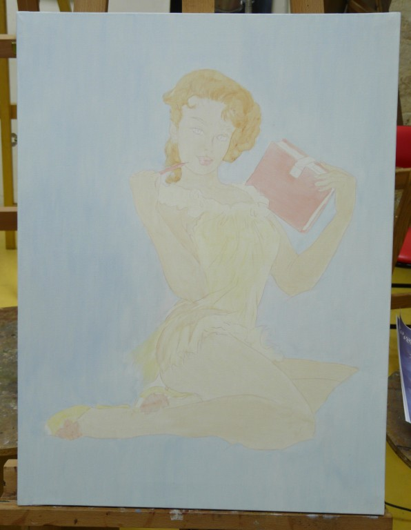 Thinking of you en peinture l 39 huile galerie d 39 art - Huile de lin essence de terebenthine ...